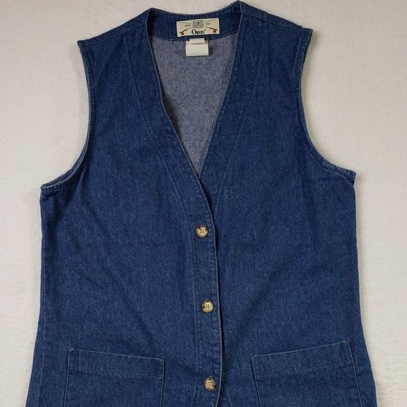 Orvis Tops - Orivis Vintage Denim Jean Button Vest Womens Small
